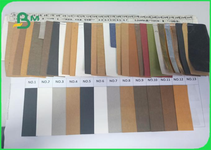 Color customized and stable Washable kraft paper for bag making