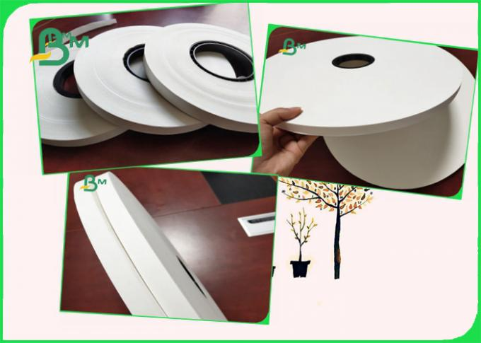 28GSM Food Grade Paper Wrapped Rolls Width 22mm to 44mm White Color