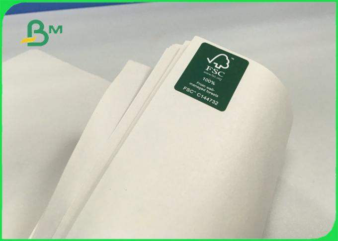 Recyclable Smooth Newsprint Paper Roll 45gsm to 52gsm For Packing Customized