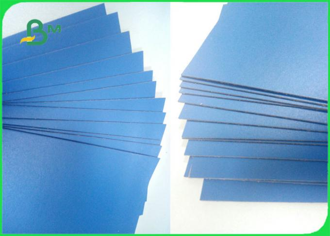 1.3mm 1.5mm Blue Green Lacquered Solid Paperboard For Dresser Nightstand Boxes